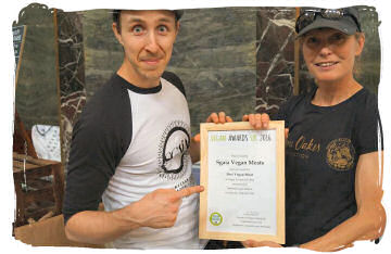 Sgaia's Vegan Meats vegan awards 2016