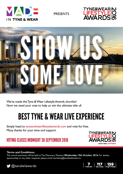 Tyne and Wear Lifestyle Awards 2016