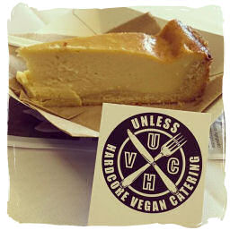 Vegan cheese cake available