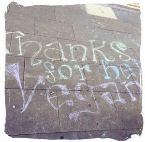 Thanks for being vegan