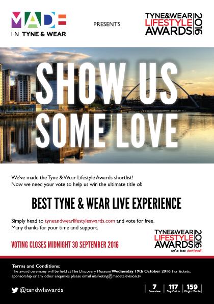 Tyne and Wear Lifestyle Awards 2016