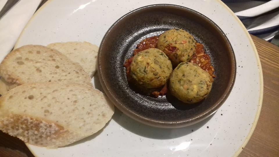lentil falafel and chips